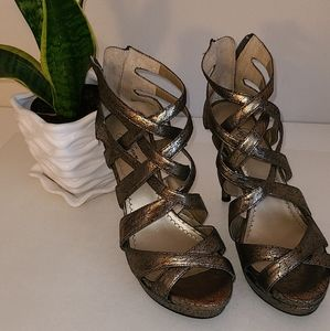 Pewter Strappy Heels sandals
